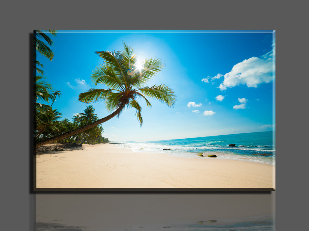 Unframed 1 Piece Hot Selling Beautiful beaches Wall Decor oil painting Canvas Art HD picture Print Paintings Home Decorations beautiful ocean