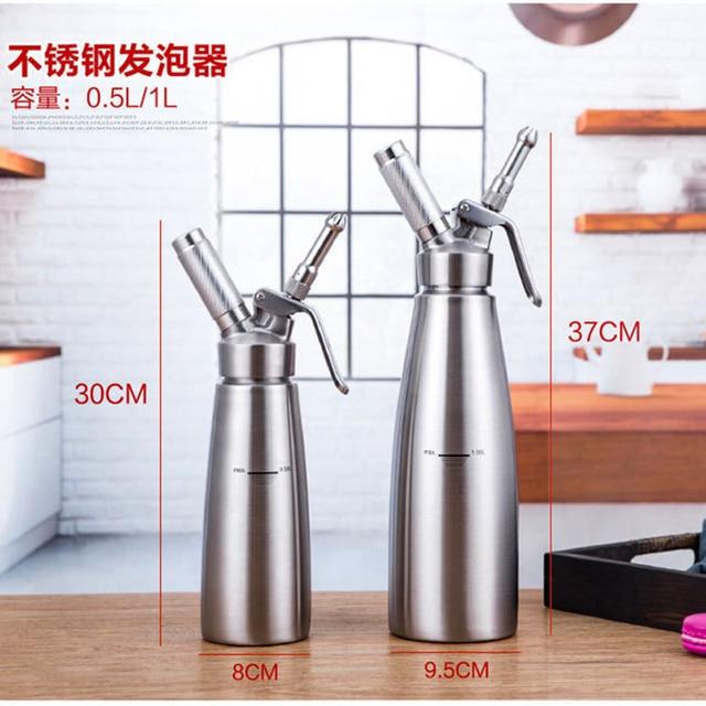 Kaliteli 500ML/1L Artisan krem şanti dispenseri, krem Whipper dekorasyon nozulları