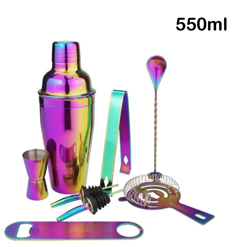 8 - Piece Multi - Function Home Kitchen Bar Set Stainless Steel Cocktail Set Bar Tool Barware Tool Sets