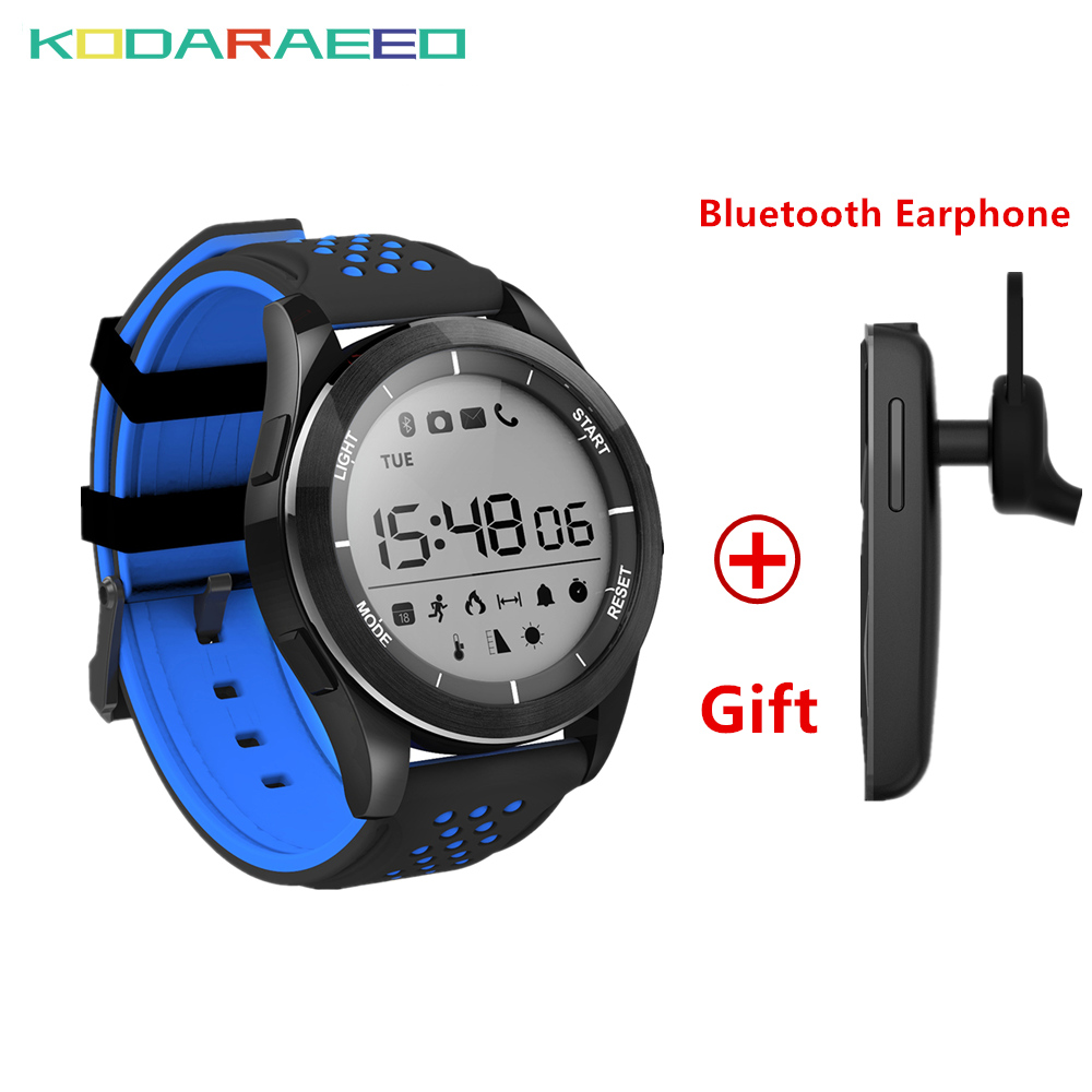 Hot F3 Smart Watch IP68 Waterproof 3ATM Support Bluetooth Luminous Altitude Meter Thermometer Pedometer Steps Kcal