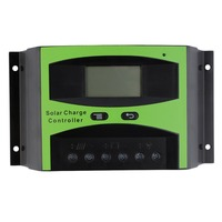 LCD 40A 12V/24V Solar Charge Controller Autoswitch Solar Panel Battery Regulator Charge Controller ST1-40A Free Shipping
