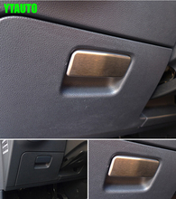 For Golf 7 2014 interior accessories driving side glove box handle trim stainless steel free shipping