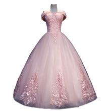 Fora do Ombro Rosa Quinceanera Vestido 2019 Tulle Lace vestido de Baile Formal prom Vestido vestido de 15 anos vestidos de quinceaneras