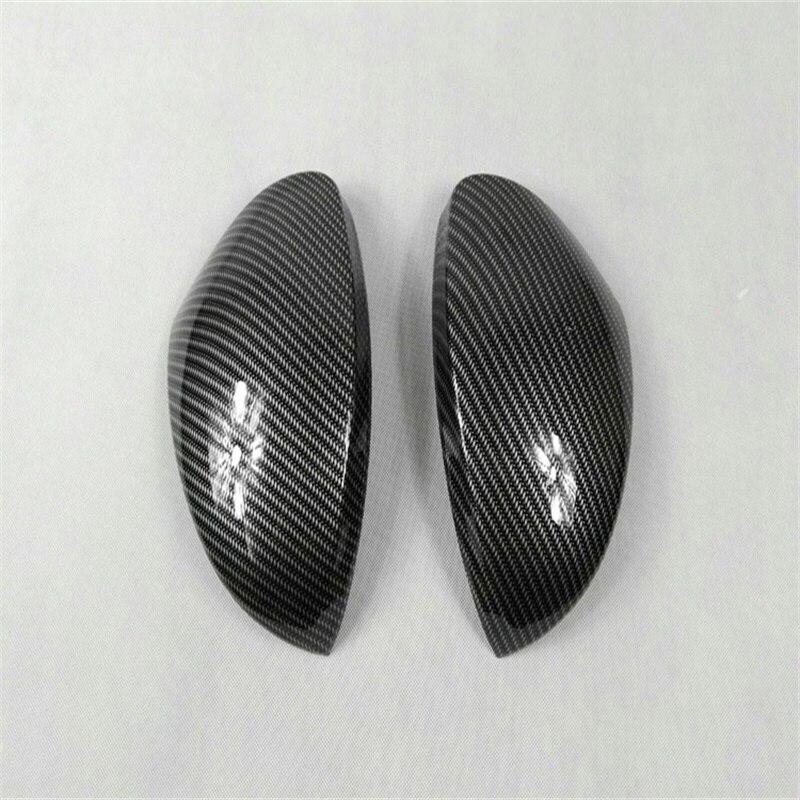 Abaiwai Voiture-Style Accessoires De Rétroviseur en Fiber De Carbone Couverture Garniture Pour Volkswagen 2010-2012 2013 2014 2015 Tiguan VW 2 pièces