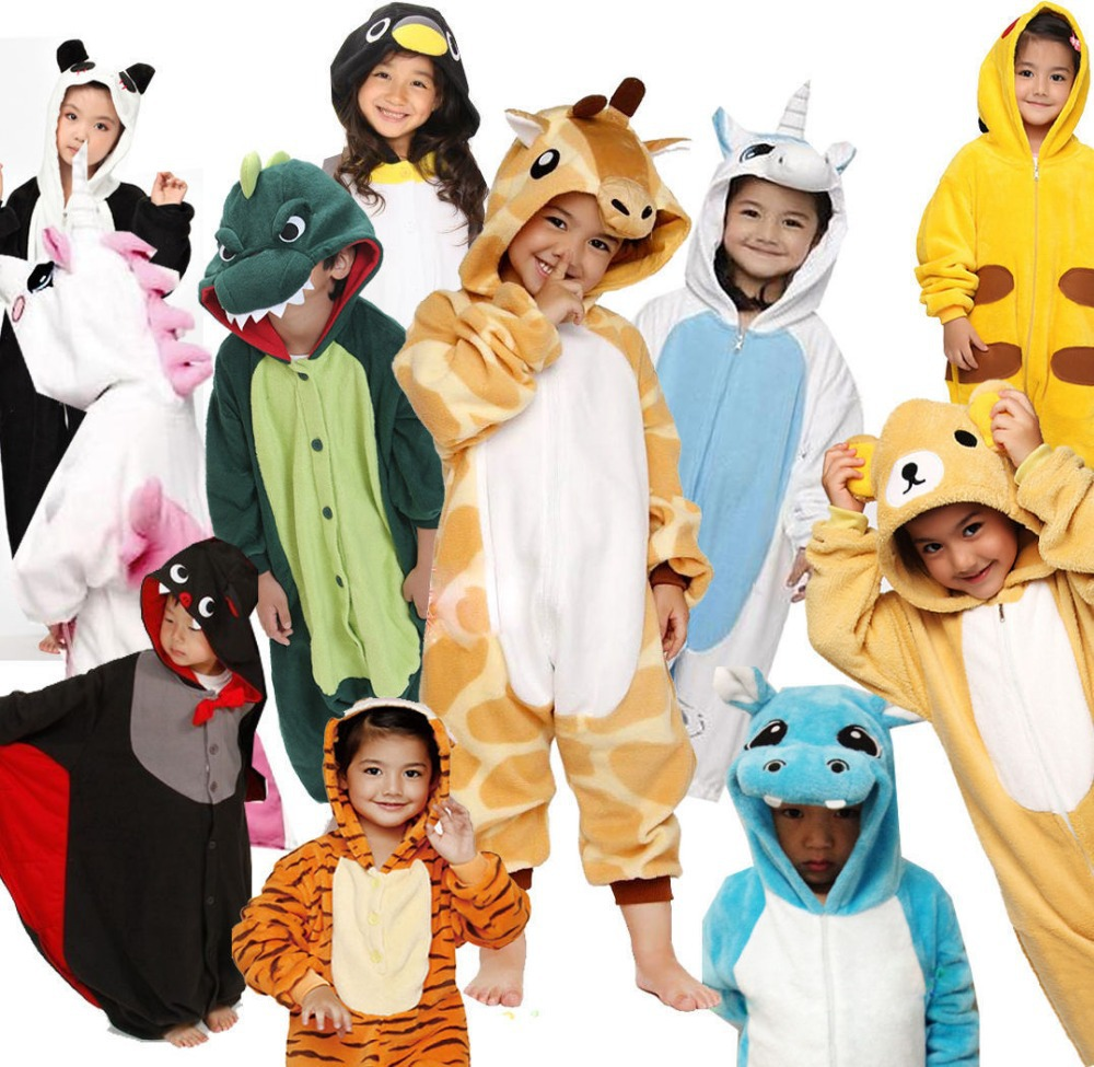 Aliexpress.com : Buy Children Kids Flannel Animal Pajamas