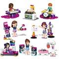 2017 Figuras de Colección de Juguetes de Bloques de Construcción de Ladrillo Música Chica Flor de Hadas de la princesa regalo de Cumpleaños regalo de Cumpleaños envío libre