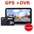 7 polegada Android DVR GPS Do Carro de Navegação Android Capacitivo tuch Carro Caminhão veículo dvrs Recorder camcorder WIFI FM gps 8 GB Mapa Livre