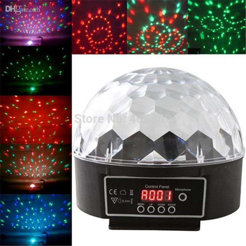 6CH 20W DMX512 RGB LED Crystal Magic Ball Effect Light Disco DJ led stage light Lighting