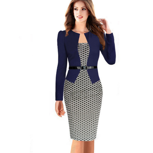 New Women Plus Size Dresses 4xl Full Sleeve Two Pieces Dresses