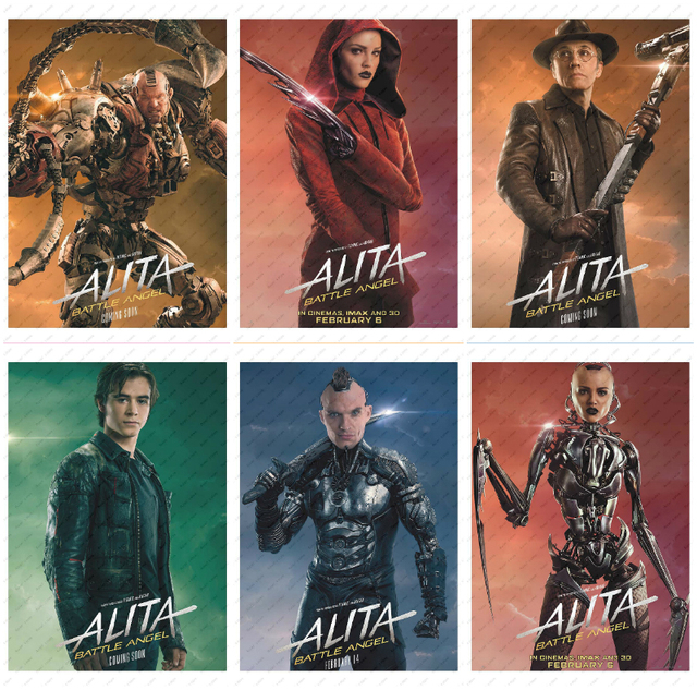 Alita: Battle Angel  Movie Poster White Kraft Paper wall sticker  Decorative paintings