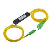 4Pcs/Lot,1310/1550nm Dual Window 30/70Ratio SC/APC 90*20*10mm 2.0mm 1M ABS Box Type  1*2 FBT FIber Optic Splitter