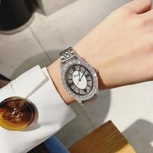 Top Luxury Rhinestone Womens Watch Woman Full Sparkling Ladies Women Watches Clocks reloj mujer montres femmes