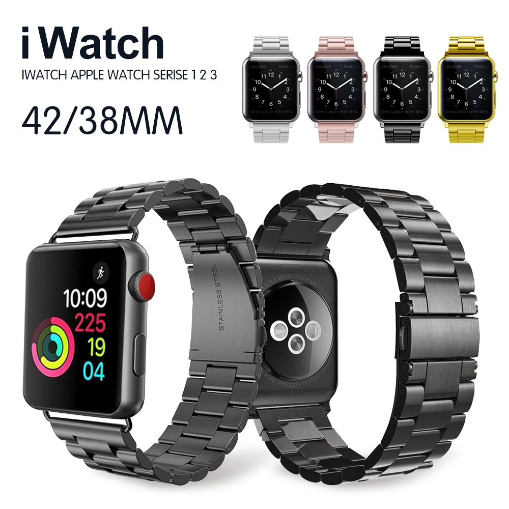 Stainless Steel Band For Apple Watch 42mm Series1 Series 2 Series 3 Replacement Classic Version For iWatch Strap 38mm Metal Belt 42mm 38mm for apple watch s3 series 3