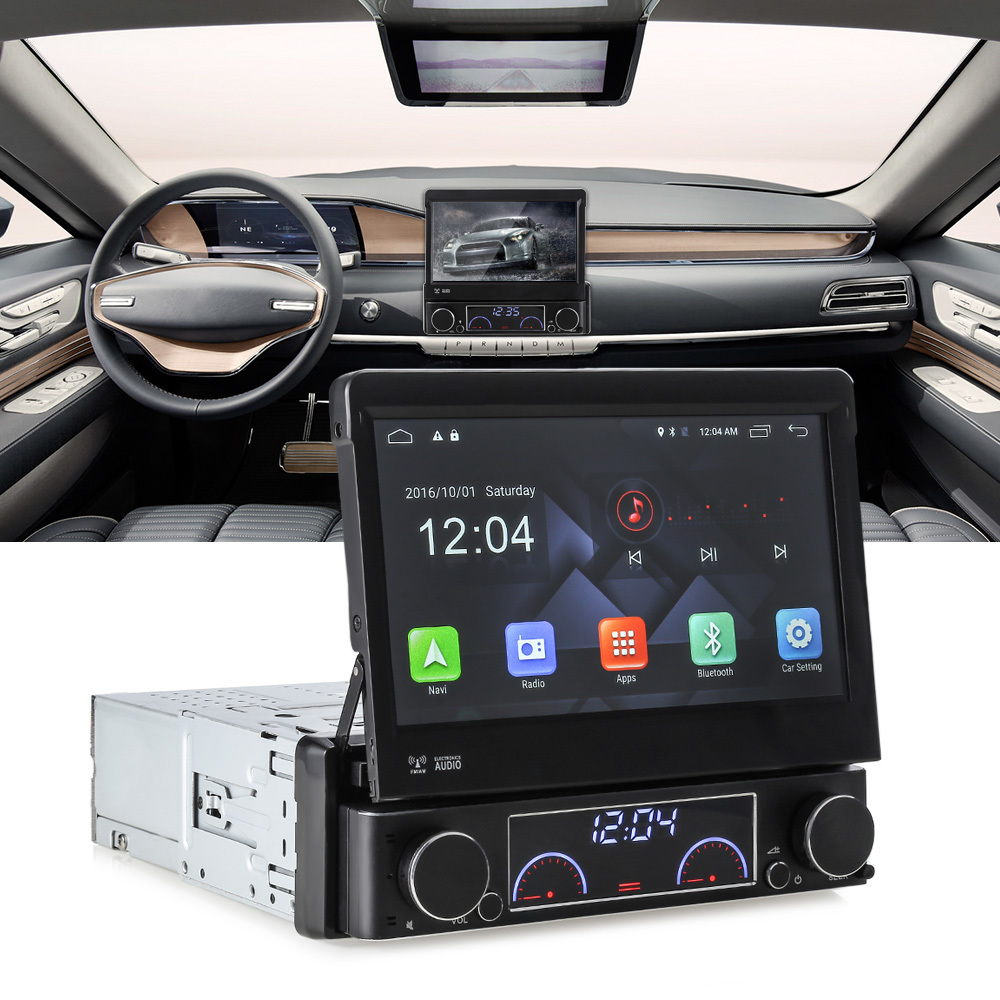 Zeepin 1 Din Car DVD Player Android 6 0 Retractable Car Multimedia Player GPS Navigation Wifi