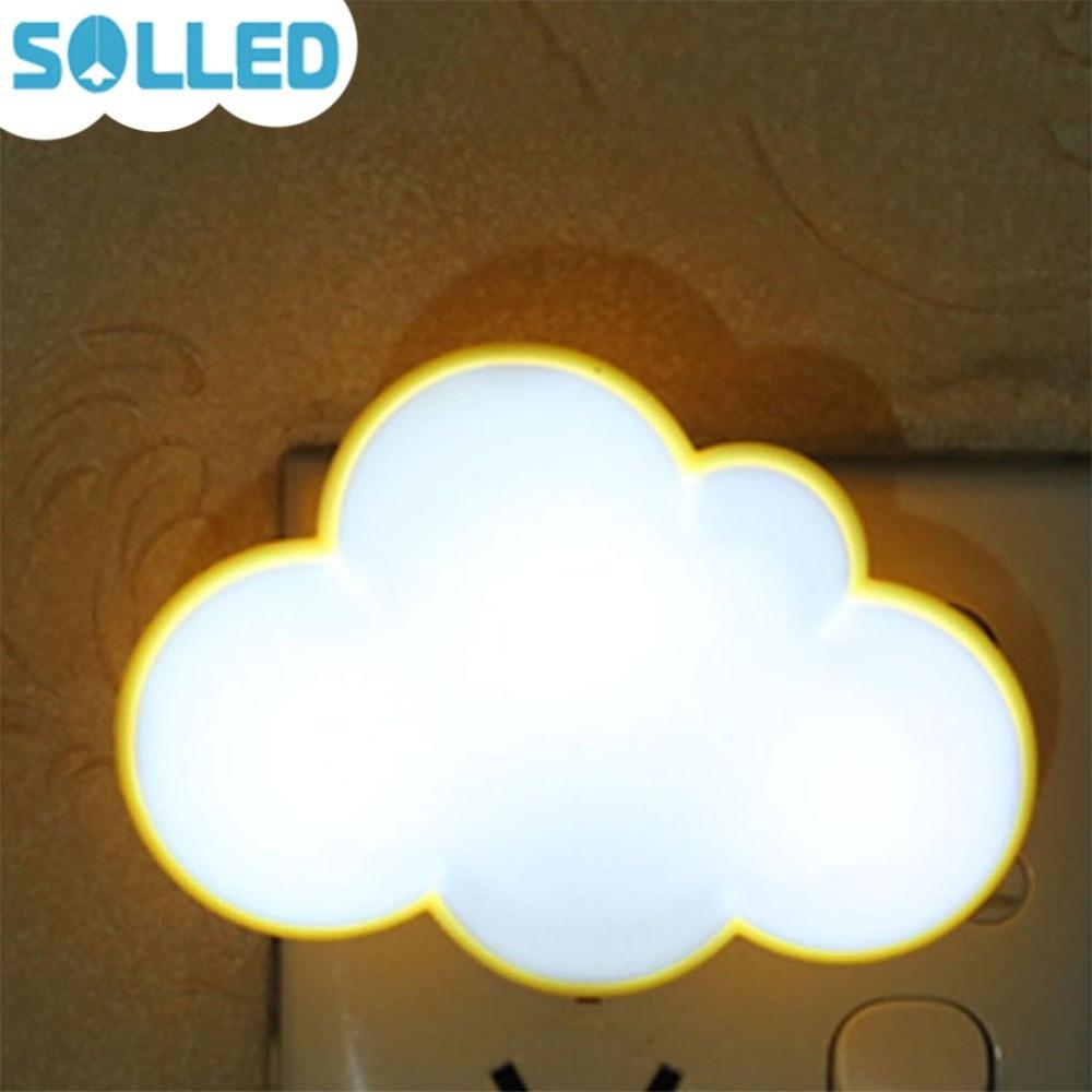 SOLLED Novelty Cloud Shape Night Light Childrens Bedroom LED Light Mini Cloud Lamp Emitting Room Decor Gift for Kids Baby