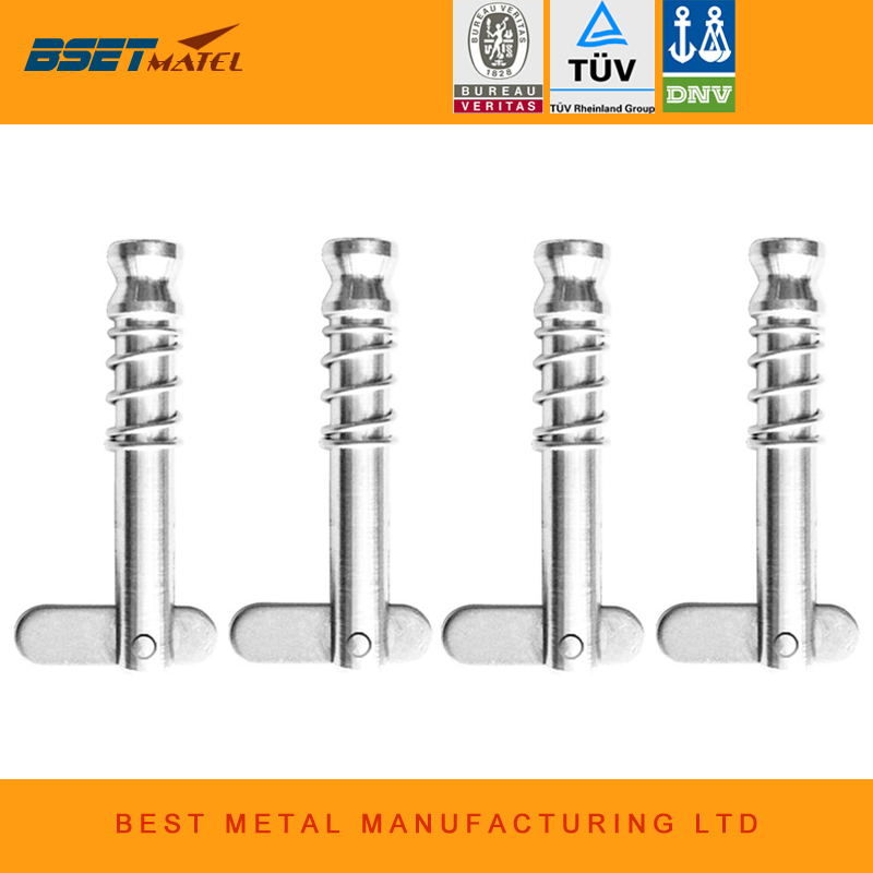 4PCS BSET MATEL 6.3*42mm 1/4 inch Quick Release Pin for Boat Bimini Top Deck Hinge Marine Stainless