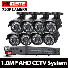 AHD 8CH 1080N HDMI DVR 2000TVL 720P HD Outdoor Security Camera System 8 Channel CCTV Surveillance DVR Kit AHD Camera Set
