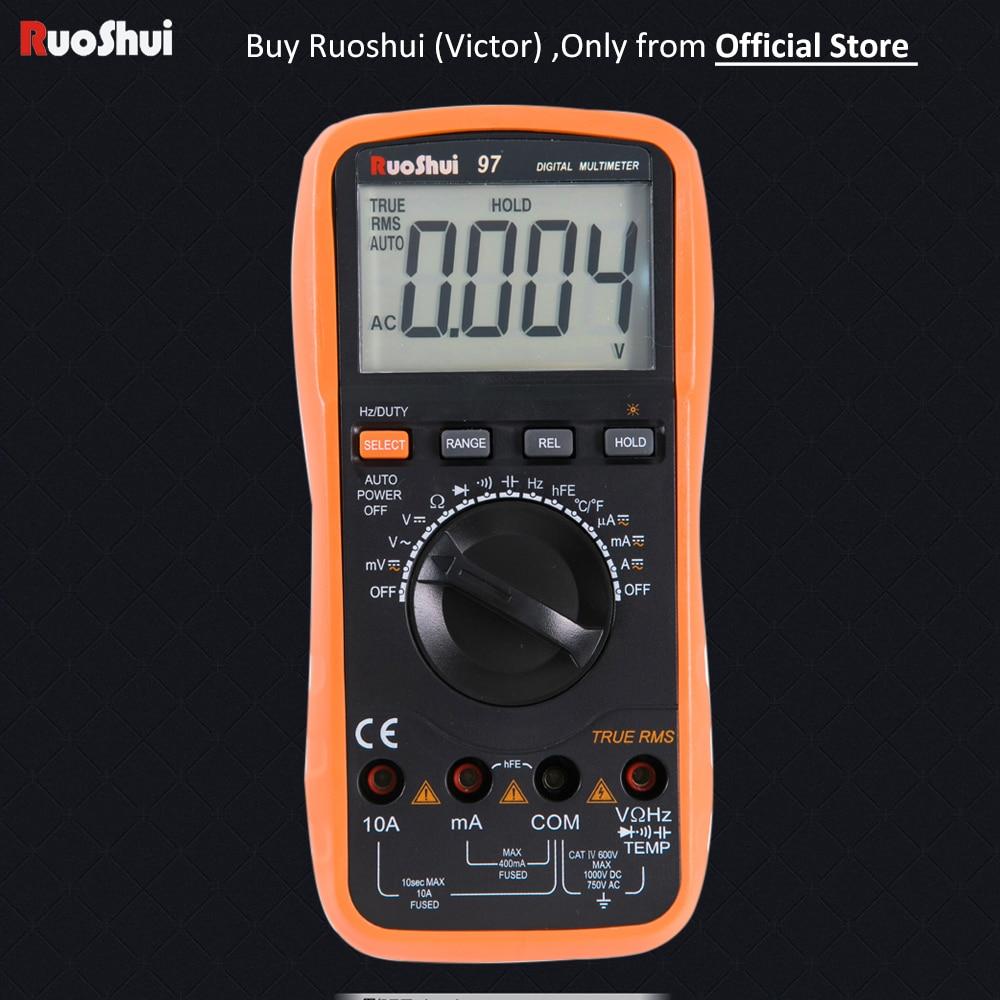 97 Victor RuoShui Multimetro Digitale 4000 Counsts Auto Range Vero RMS Resistenza Capacità Frequenza Temperatura Multimetro