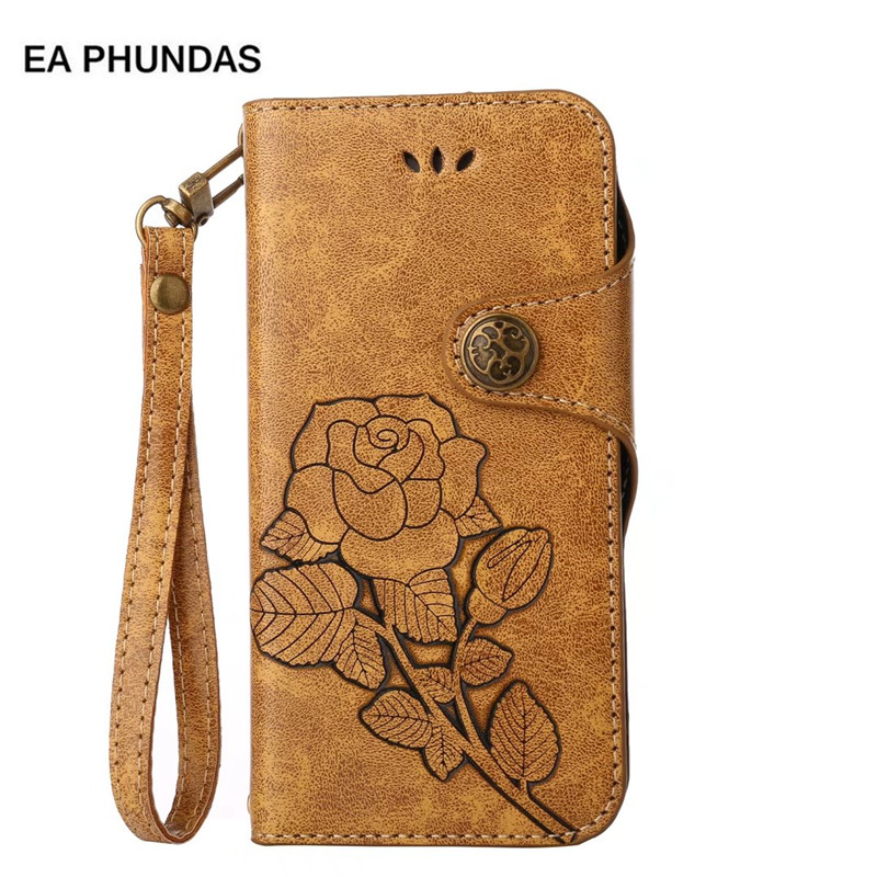 75b1818fb1c0 US $3.79 5% OFF|For Huawei honor 6X case Business Cover Emboss Rose Retro  PU Leather for Huawei case Vintage Style for honor 6X case funda capas-in  ...