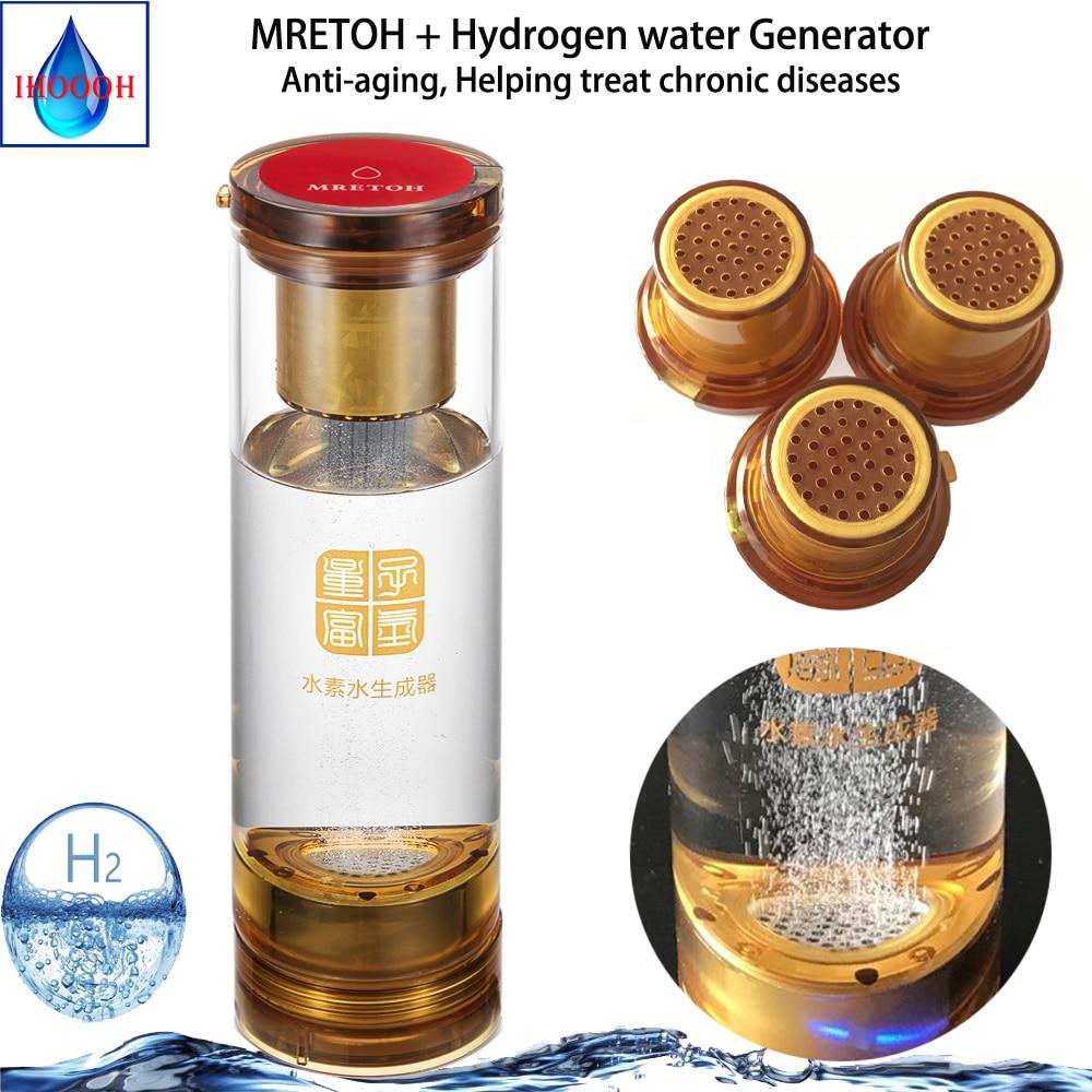 Tasse de générateur de l'eau H2 et tasse de séparation d'hydrogène et d'oxygène de transmission sans fil de résonance moléculaire de MRETOH 7.8Hz