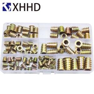 Image 1 - Iç Ve Dış Dişler mobilya vidası Somun Seti Ürün Çeşitliliği Kiti Kutusu M4 M5 M6 M8 M10
