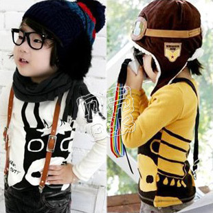 2012 autumn cow boys clothing girls clothing baby long-sleeve T-shirt tx-0029