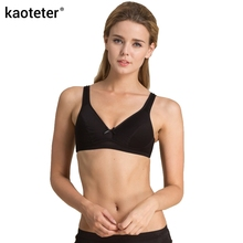 3fdef6272f kaoteter 100% Pure Silk Bras Thin Seamless No Ring Female Comfortable  One-piece Sexy