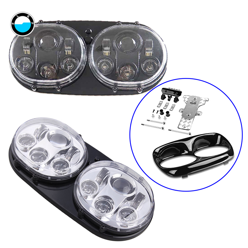 Harley Accessories 7'' inch Black Motorcycle Projector Daymaker Dual led headlight for 2004 2013 Harley Davidson Road Glide