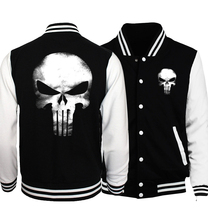 Plus Size Men's Sportswear2017 Winter Jacket Men Bomber Jackets Batman 2/ Film Hero/ Movie/ The Punisher Hipster Coat Jackets