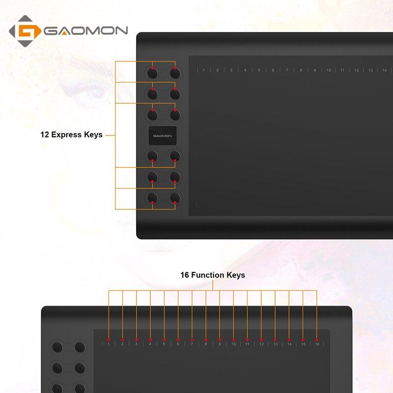 Tablette graphique professionnelle pour dessiner des tablettes stylo USB gafairy M106K 10x6 pouces Art Digital - 3