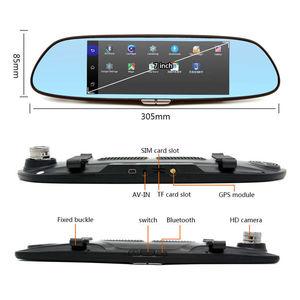 Image 2 - 7 zoll 1080P Volle HD Auto DVR Dash Kamera Spiegel Unterstützung Für Android GPS Navigation Wifi Mehrere Sprachen Auto recorder Kamera