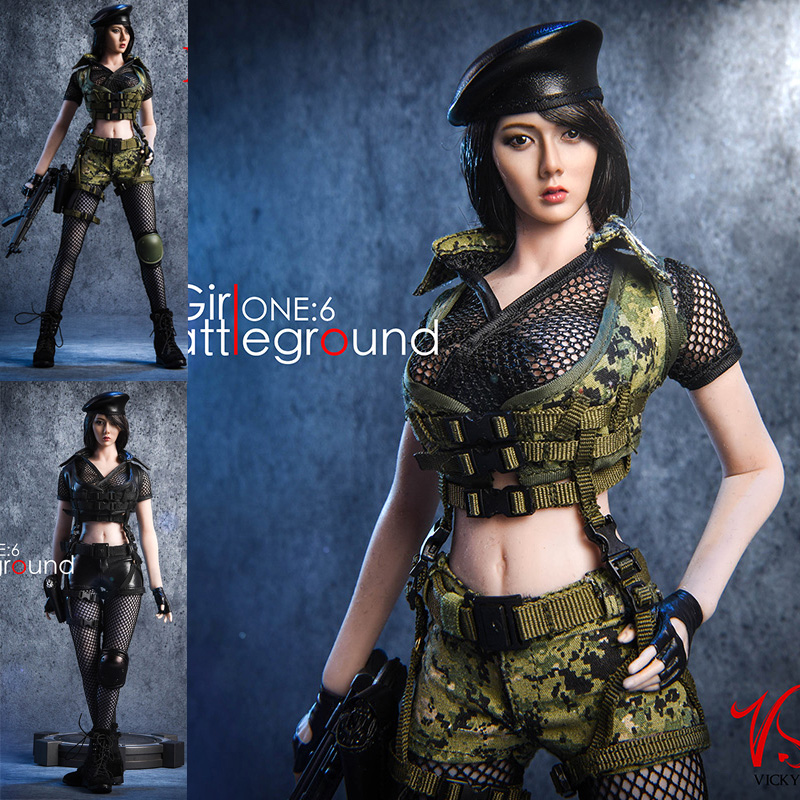 VStoys 1 6 female soldier costumes student agent 18XG10 for 12 Phicen Action Figure Painting model