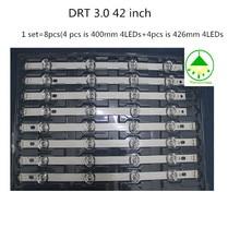 """8 pcs/Lot LED de remplacement LED rétro éclairage pour 42 """"LG 42LB5500 42LB5610 42LB570V LC420DUE FG 4 A + 4 B 100% nouveau substrat en aluminium"""