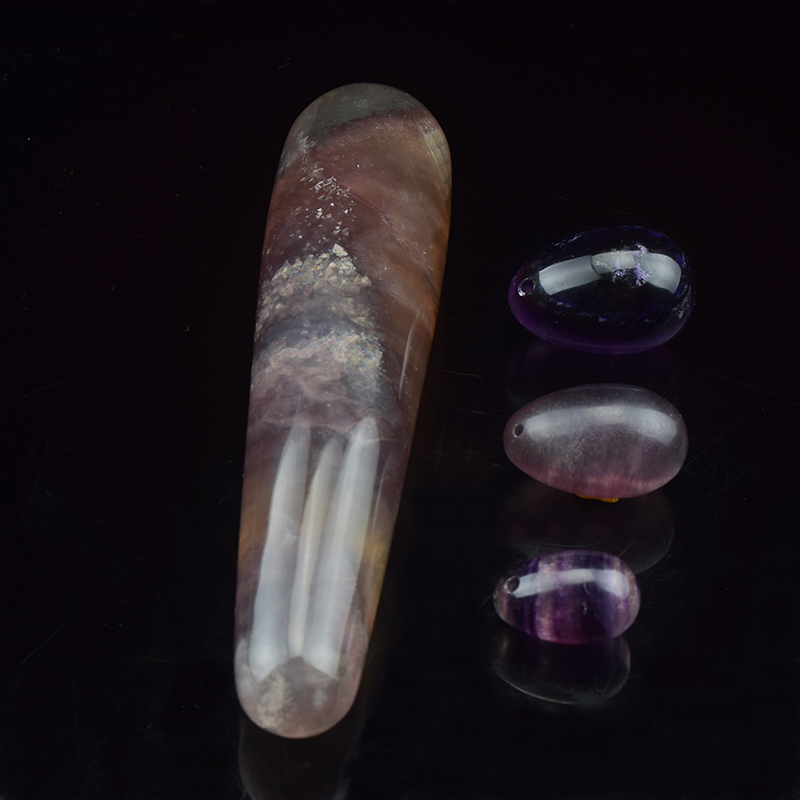 180 Mm Natural Fluorite Yoni Wand Pleasure Stick And Yoni -8612