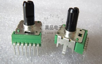 [VK] ALPHA Taiwan type 142 A100K double 7 feet electronic organ volume rotating potentiometer handle 13MM switch