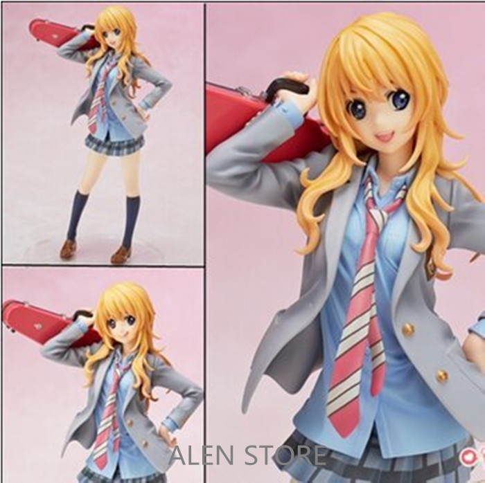 ALEN 20cm your lie in april kaori miyazono Sexy Action Figure PVC Collection Model toys brinquedos for christmas gift Toy hot new 1pcs 20cm spider man venom pvc toy action figure toys dolls christmas gift opp bag