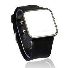 280b505e5631 Reloj Digital LED hombres mujeres deportes casual relojes de pulsera  calendario fecha reloj de silicona espejo sin rostro hombre.