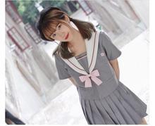10pcs Japanese Style School Uniform Girls Sakura Embroideried 2019 Spring High Student Sweet Women Novelty Sailor Suits