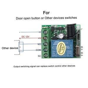 Image 5 - Kebidu 433 МГц 12 В постоянного тока беспроводной пульт дистанционного управления переключатель для обучения кода передатчик дистанционного управления 220 В 1 канал реле 433 МГц модуль приемника