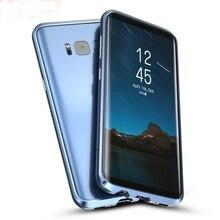 Для Samsung Galaxy S8 чехол плюс металлический бампер для Samsung S8 случаях тонкая алюминиевая рама крышка для Galaxy S8 плюс противоударный Fundas
