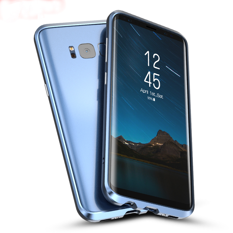 For Samsung font b Galaxy b font font b S8 b font case plus metal bumper