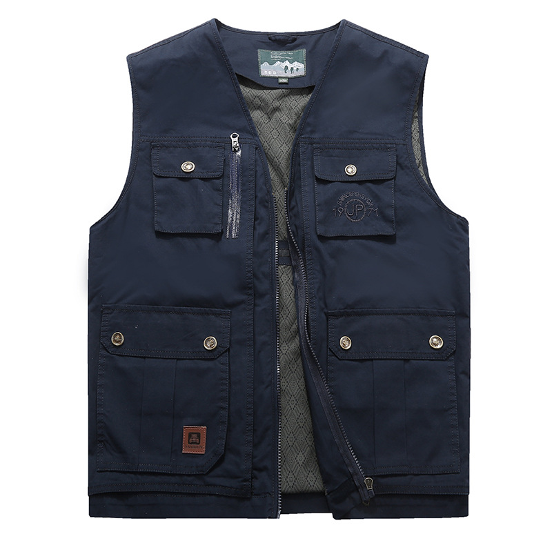 AFS ZDJP Men vest multi-pocket large Plus Size 7XL 8XL 9XL Vest Men 2018 Spring Autumn  fishing photography outdoor leisure Wais