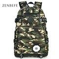 Zenbefe design da marca mochilas saco de viagem saco de camuflagem saco de escola para o adolescente para a faculdade mochila unisex mochila daypack