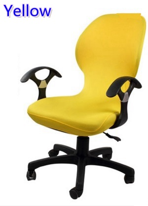 Yellow colour lycra computer chair cover fit for office chair with armrest spandex chair cover decoration wholesale