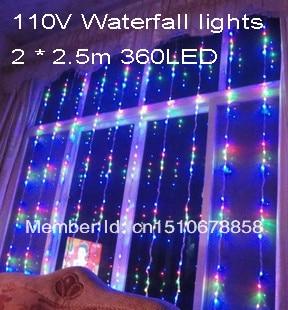 Aliexpress buy free shipping 225m 360led led waterfall free shipping 225m 360led led waterfall decorative led string light curtain string pink aloadofball Images
