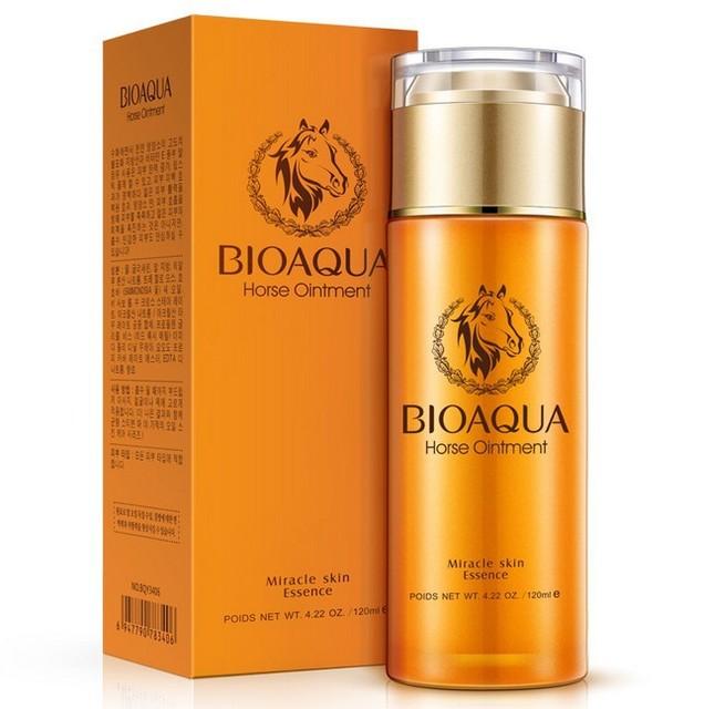 BIOAQUA Caballo ungüento Esencia Hidratante crema Loción 120 ml Blanqueamiento Nutritiva solución de color brillante de la piel Cuidado de La Cara
