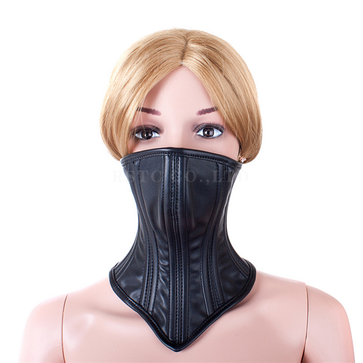 Sex Shop Hot Leather Neck Collar Sex Toys ,Tipping Chin Mouth Masks Collar Bondage Restraint For Women Adult Sex Slave Products.