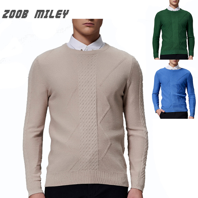 Fashion Winter Warm Pullover Men Knitted Jumpers Loose Fit High Quality Casual O-neck Long Sleeve Sweaters Plus Size M-3XL