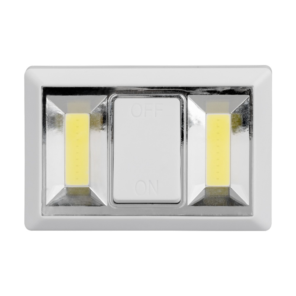 Ultra Bright 2*COB LED Night Light Wall Light Lamp Battery
