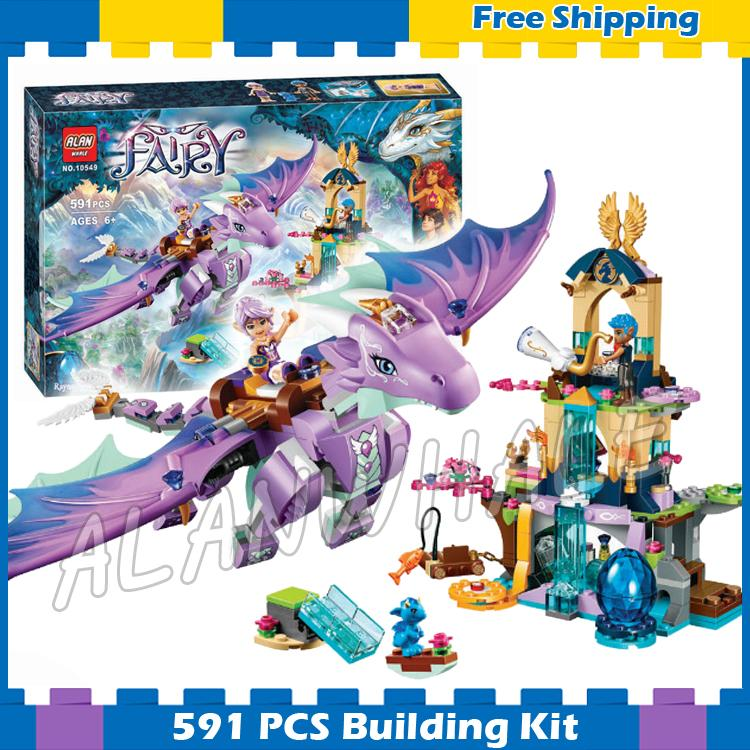 591pcs Elves The Dragon Sanctuary Cherry Tree Princess Elf 10549 Model Building Blocks Fairy Gifts sets Compatible with Lago image
